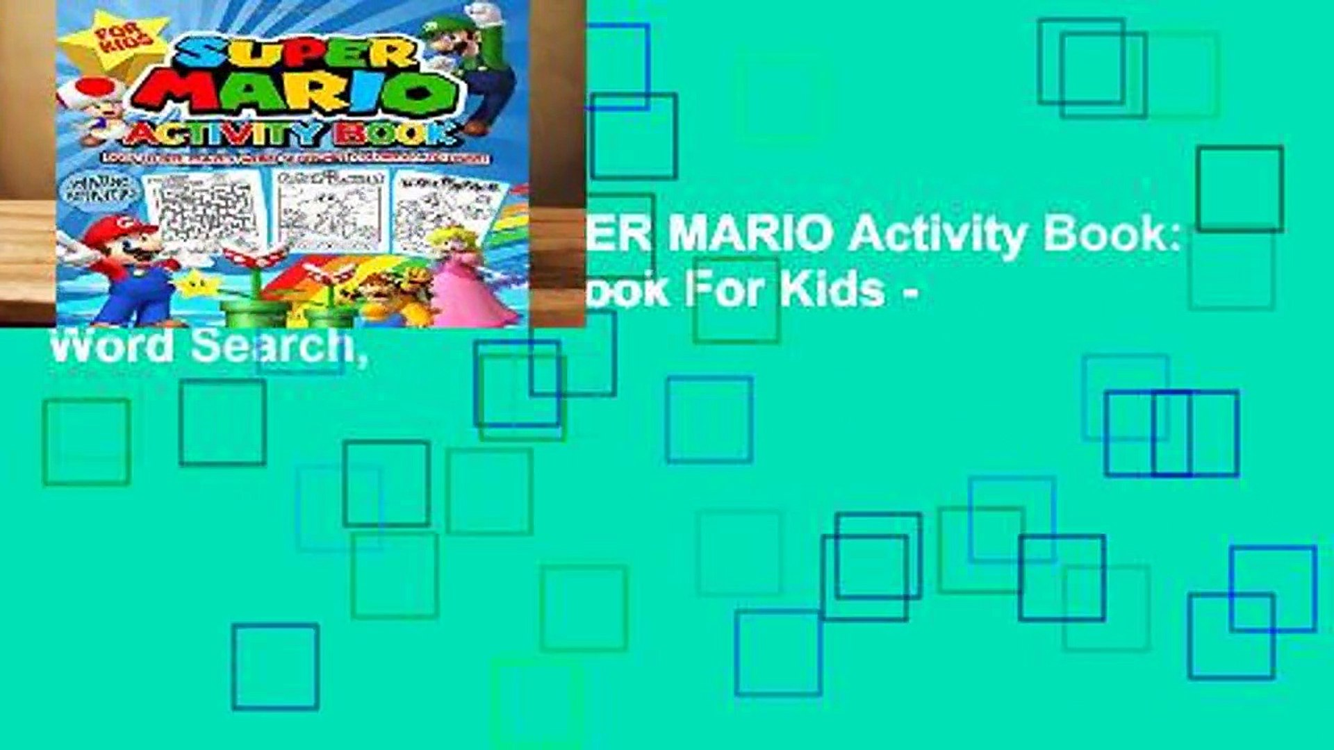 About For Books  SUPER MARIO Activity Book: Super Mario Activity Book For Kids - Word Search,