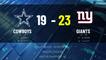 Cowboys @ Giants Game Recap for SUN, JAN 03 - 02:00 PM ET EST