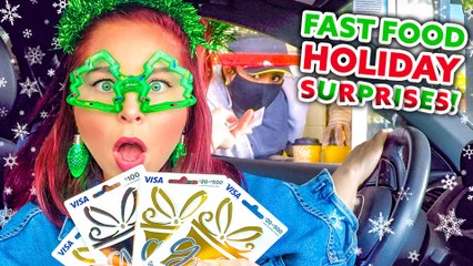 Surprising Drive-Thru Workers For The Holidays!? *Clevver Giftaway Finale*