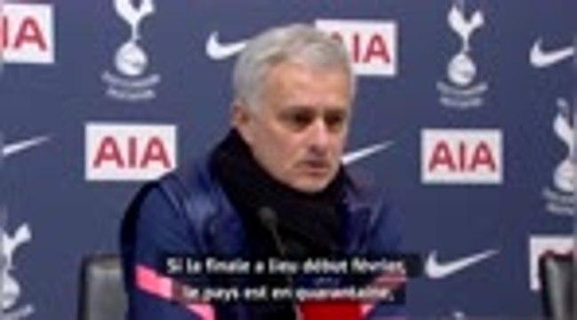Tottenham - Mourinho espère voir des fans pour la finale de la Cup
