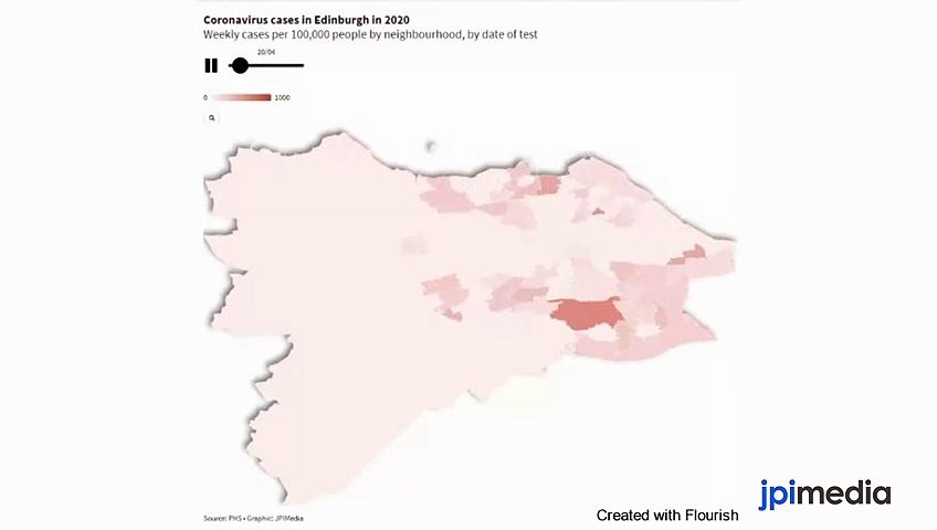 Coronavirus – This map shows how coronavirus spread through Edinburgh in 2020