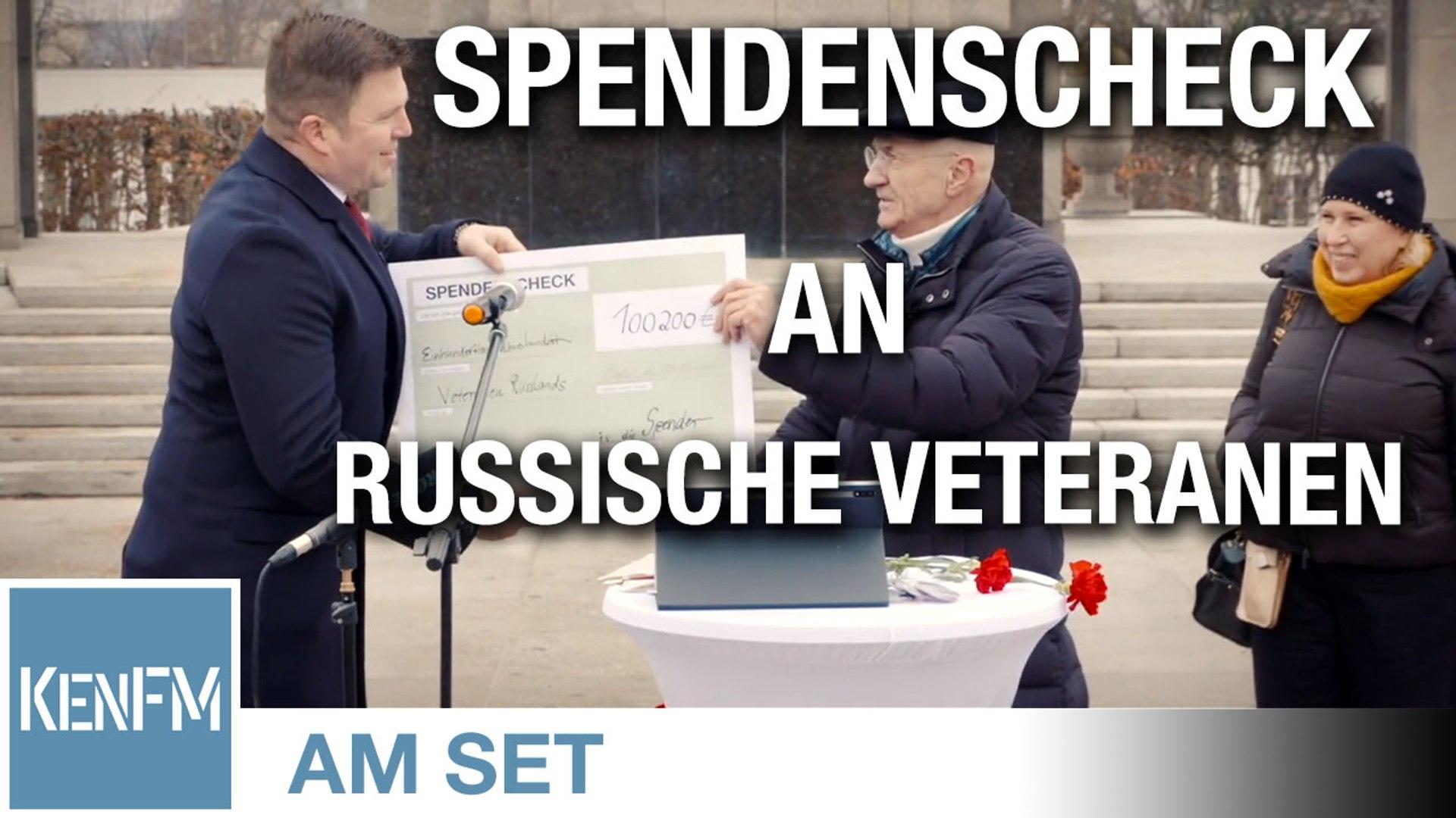 KenFM am Set: Übergabe des Spendenschecks für die Russischen Veteranen am 05.01.21 in Berlin