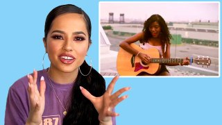 Becky G Watches Fan Covers on YouTube