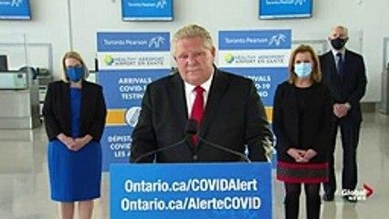 Coronavirus- Ontario launches free COVID-19 testing program for international travellers - FULL