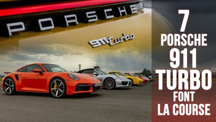La course des Porsche 911 Turbo, 7 générations face à face