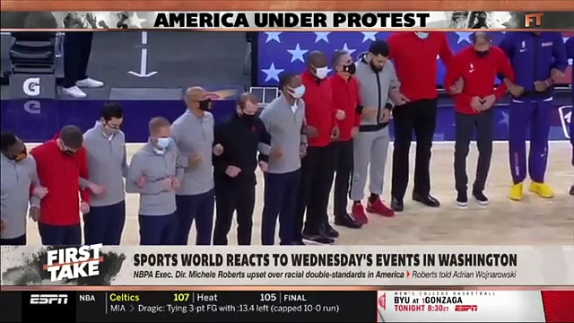 FIRST TAKE  Stephen A  Smith  on sports world react to wednesday s events in Washington