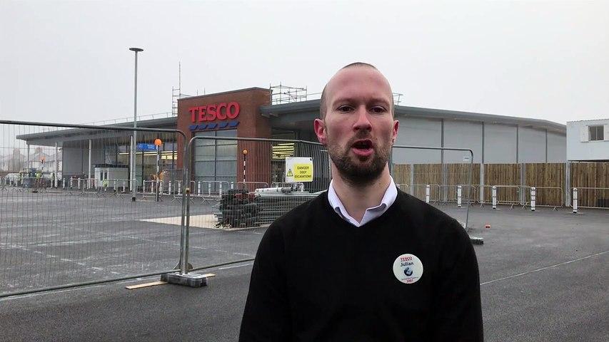 Julian Blissett the manager at the new Tesco Penwortham