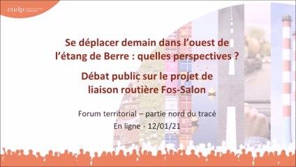 Débat Public Liaison Routière Fos Salon - Forum en ligne - 12 janvier 2021
