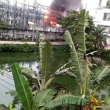ময়মনসিংহে বিদ্যুৎ উপকেন্দ্রে আগুন; অন্ধকারে ময়মনসিংহ সহ ৪টি জেলা  _ Vumika News _ PDB Fire News