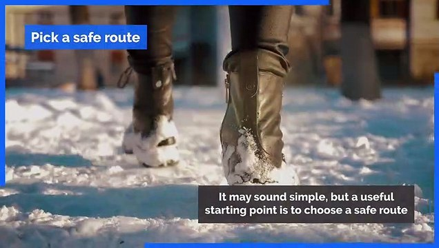Winter weather - Tips for walking more safely on ice and avoiding falls