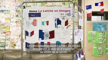 L'exposition sur les valeurs de la République du collège Louise Weiss