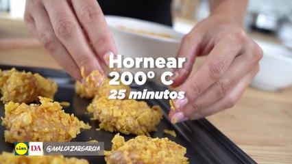 Nuggets de pollo extra crujientes con salsa de mango y curry