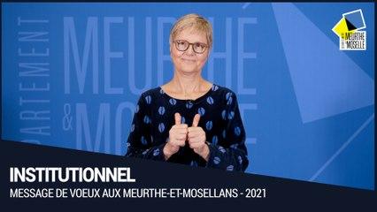 Voeux aux Meurthe-et-Mosellans pour l'année 2021
