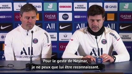 Pochettino : Reconnaissant du geste de Neymar - Foot - L1 - PSG