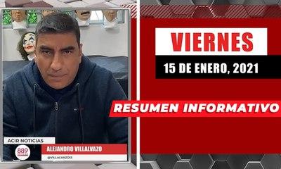 Resumen de noticias viernes 15 de enero  2021 / Panorama Informativo / 88.9 Noticias