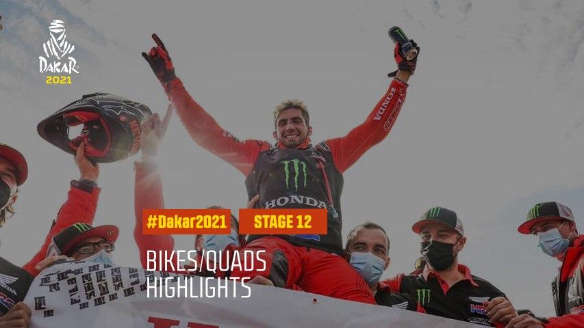 #DAKAR2021 - Stage 12 - Yanbu / Jeddah - Bike/Quad Highlights