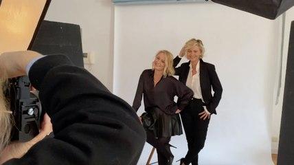 Dans les coulisses du shooting de Barbara et Maureen Louys