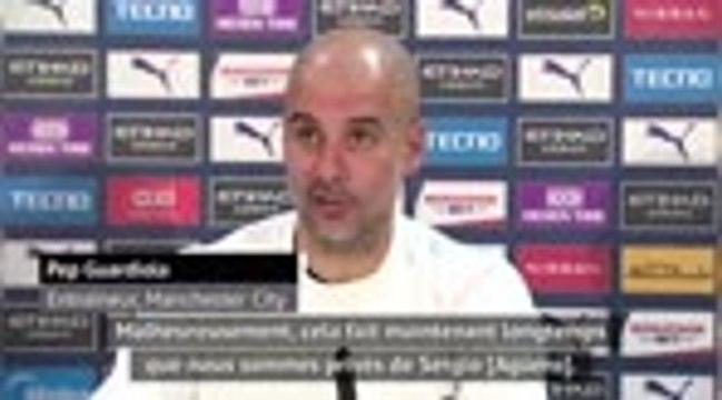 """18e j. - Guardiola : """"Agüero allait parfaitement bien"""""""