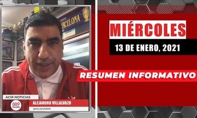 Resumen de noticias miércoles 13 de enero  2021 / Panorama Informativo / 88.9 Noticias
