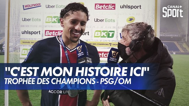 300ème match au PSG et Trophée des Champions pour Marquinhos