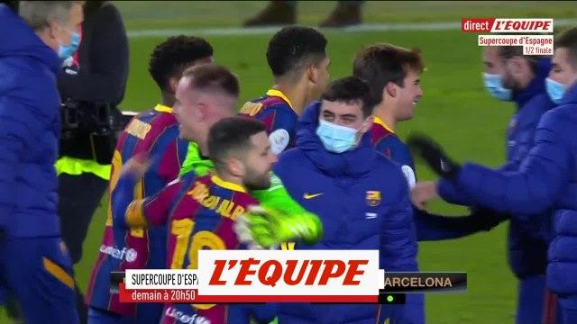 Real Sociedad - FC Barcelone, les tirs au but (2-3) - Foot - Super Coupe d'Espagne