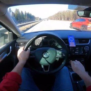 SKODA OCTAVIA III 1.4 TSI 150HP TOP SPEED DRIVE ON GERMAN AUTOBAHN