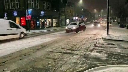Snow video Harrogate January 14