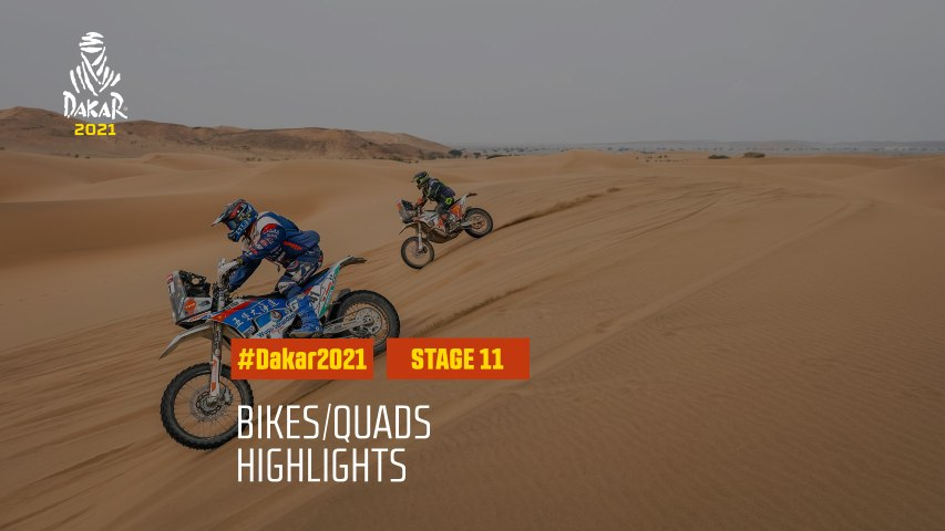 #DAKAR2021 - Stage 11 - AlUla / Yanbu - Bike/Quad Highlights