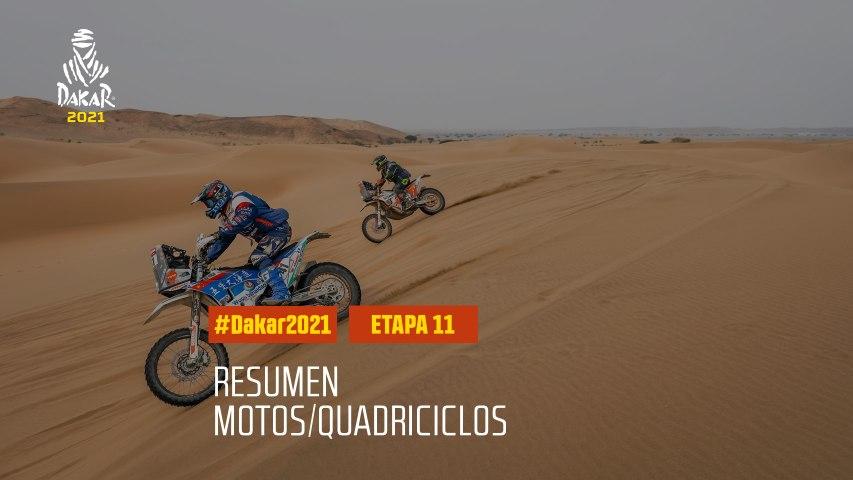 #DAKAR2021 - Etapa 11 - AlUla / Yanbu - Resumen Moto/Quadriciclos