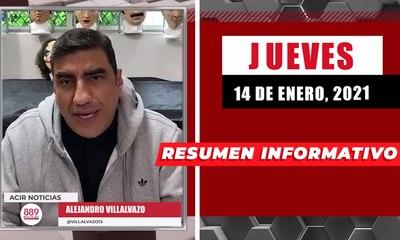 Resumen de noticias jueves 14 de enero  2021 / Panorama Informativo / 88.9 Noticias