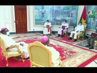 RTB / Audience des évêques de l'Église catholique du Burkina et du Niger avec le Président du Faso