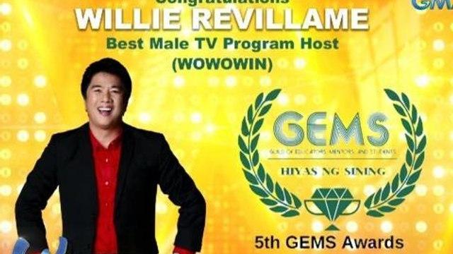 Wowowin: Willie Revillame, wagi bilang Best Male TV Program Host!
