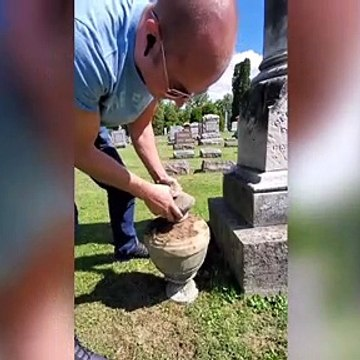 Why This Man Cleans Cemetery Headstones on TikTok