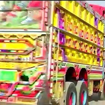 Pakistan's famous truck art takes to the air