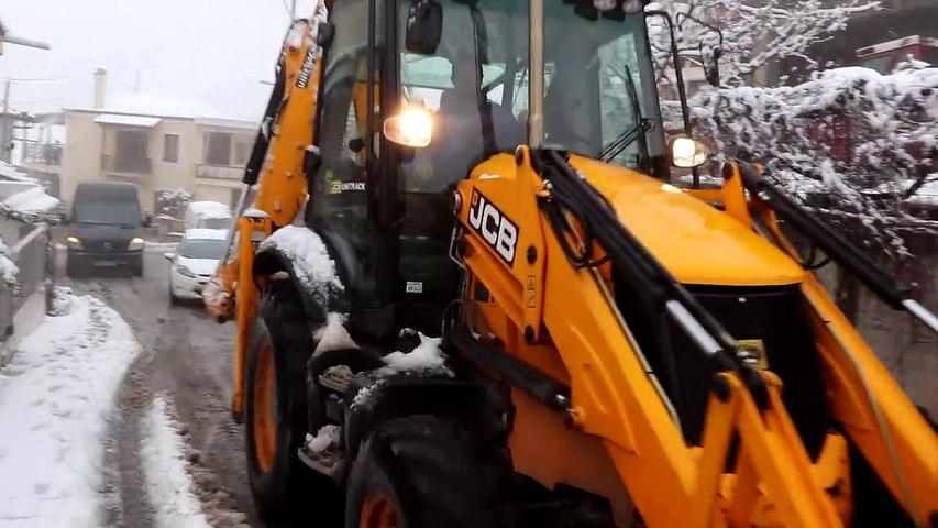 «Λέανδρος»… και στην Κωπαίδα. Χιόνια σε όλη τη Βοιωτία