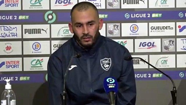 Après Amiens - HAC (0-0), réaction de Khalid Boutaïb