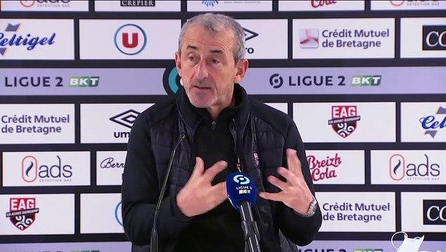 La réaction de Mécha Baždarevi? après Guingamp-Nancy (0-0 | J20 - Ligue 2 BKT | 2020-21