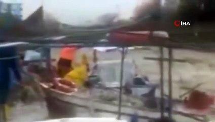 Sağanak Yağış Balıkçı Teknelerine Zarar Verdi