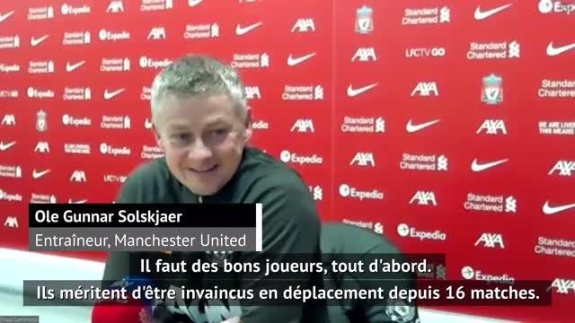 """19ème j. - Solskjaer : """"Etre déçus de ne prendre qu'un point à Liverpool, c'est une bonne sensation"""""""