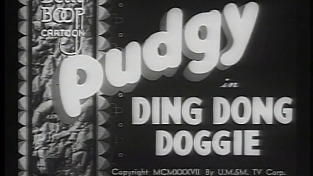 Betty Boop - Pudgy in Ding Dong Doggie - 1937