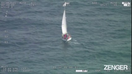 Yachtsman stranded out to sea rescued