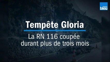 Tempête Gloria : la RN 116 coupée pendant plus de trois mois