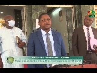 RTB / Le chef du gouvernement reçoit le Secrétaire exécutif duG5-Sahel,KaramokoJean MarieTRAORE