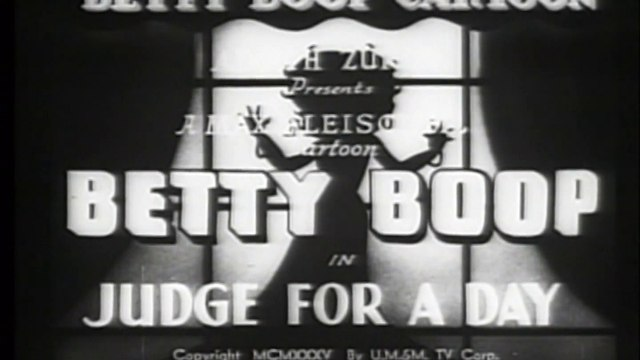Betty Boop - Judge For A Day (1935)