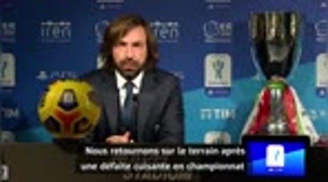 Supercoupe d'Italie - Pirlo veut voir une réaction de son équipe