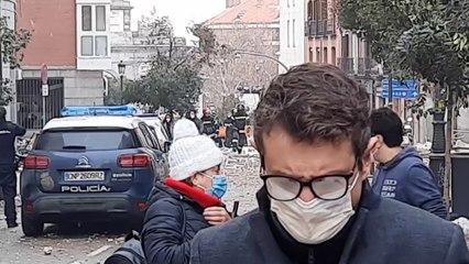 Una fuerte explosión en la calle Toledo de Madrid destruye tres plantas de un edificio