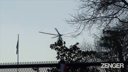 Trump Departs the White House on Marine One