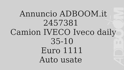 Camion IVECO Iveco daily 35-10