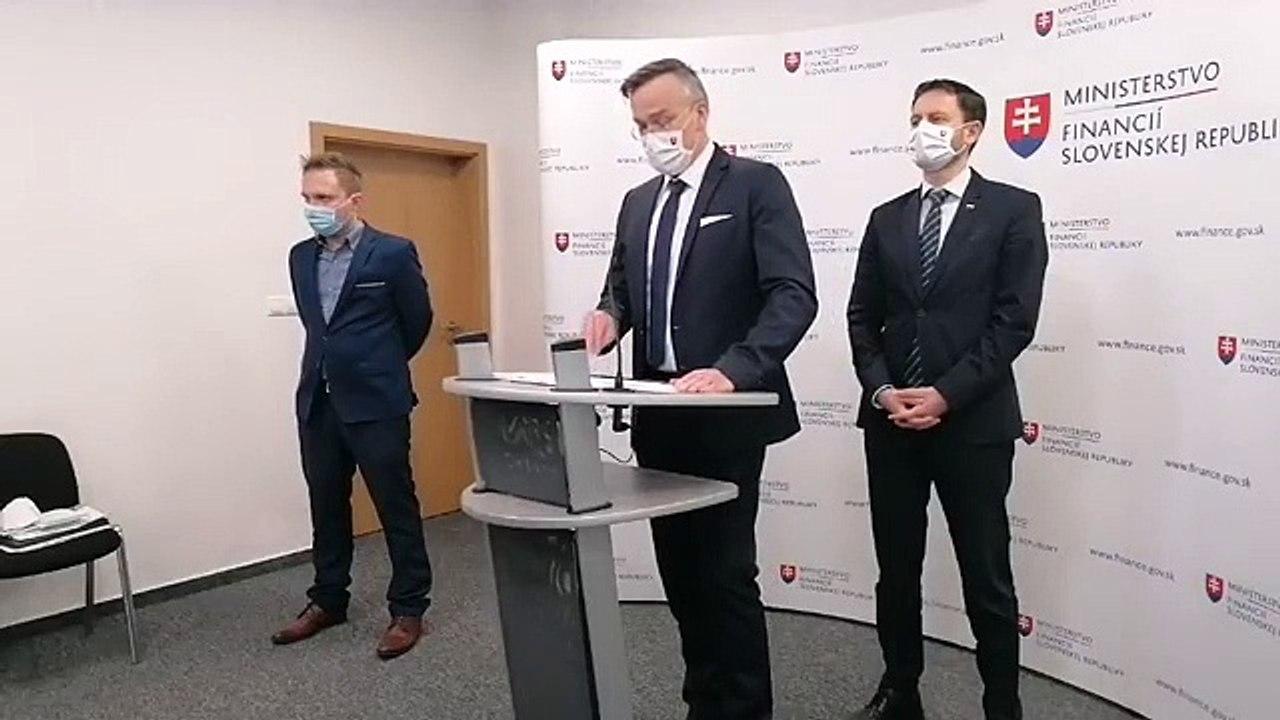 ZÁZNAM: Brífing ministra financií SR Eduarda Hegera a štátneho tajomníka MF SR Marcela Klimeka