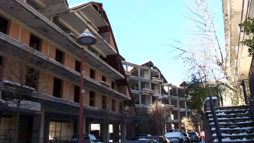 """Καρπενήσι: Στασιμότητα παρατηρείται στο έργο κατεδάφισης του ξενοδοχείου """"γιαπί"""" στο κέντρο της πόλης"""